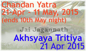 21 Apr 2015, Akhshaya Tritiya and begin of 21-day Chandan Yatra